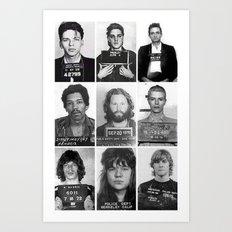 Rock and Roll Mug Shots Art Print