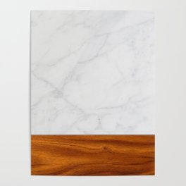 Marble and Wood 2 Poster