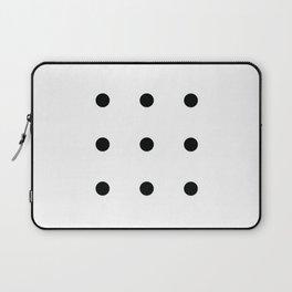 Nine Black Circles Laptop Sleeve