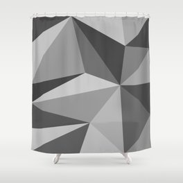 Different shades of Grey Shower Curtain