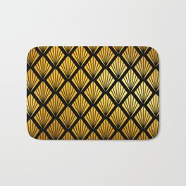 Art Deco Pattern in Gold and Copper Hues Bath Mat