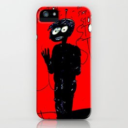 PANIC - red iPhone Case