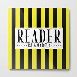 Reader Est. Hufflepuff Metal Print