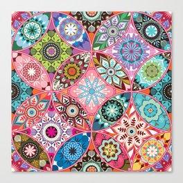 Moroccan bazaar | pink Canvas Print