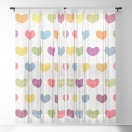 Lovely Hearts Sheer Curtain