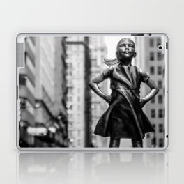 Fearless Girl New York City Laptop & iPad Skin
