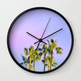 Summer Dreams with Palms Wall Clock