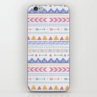 aztec iPhone & iPod Skins featuring Aztec by Joanne Hawker
