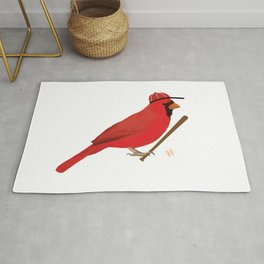 Baseball Cardinal Rug