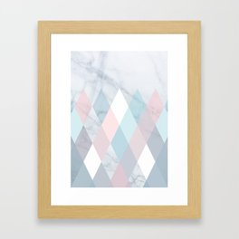 Diamond Peaks on Marble Framed Art Print