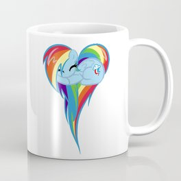 Rainbow Dash Heart Coffee Mug