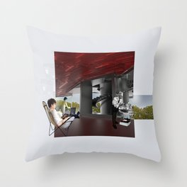 A room in a world without nostalgia Throw Pillow