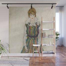 Egon Schiele - Portrait of Edith (the artist's wife) Wall Mural