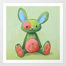 Le lapin qui aimait les fleurs Art Print