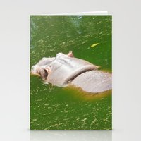 hippo Stationery Cards featuring Hippo by Doodlevania