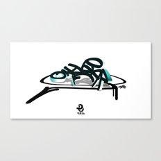 3d graffiti - ondbiqp Canvas Print