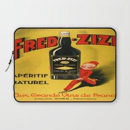 Vintage poster - Fred-Zizi Aperitif Laptop Sleeve