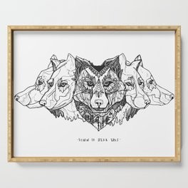 Learn To Speak Wolf Serving Tray