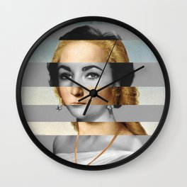 Rafael Portrait of Young Woman with Unicorn & Liz Taylor Wall Clock