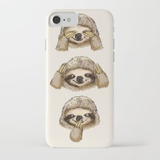 No Evil Sloth iPhone 7 Slim Case
