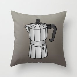 Espresso coffee maker Throw Pillow
