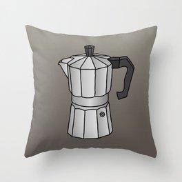 Espresso coffee maker Throw Pillow