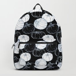 Pumpkins (Silver Calico) - Black Backpack