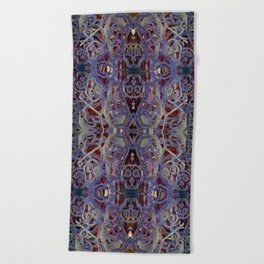 Skulls Purple Rouge Beach Towel