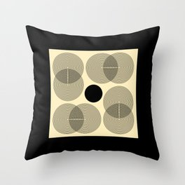 Rotation - Mid-Century Modern Minimalist Throw Pillow
