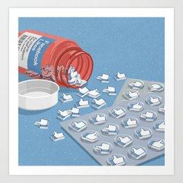 Likes pills Art Print