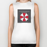 resident evil Biker Tanks featuring No119 My RESIDENT EVIL minimal movie poster by Chungkong