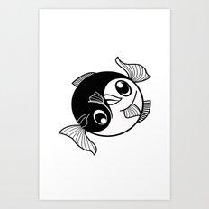 Fishy Yin Yang Art Print