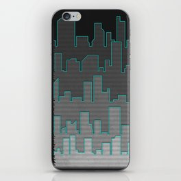 The Turquoise Outline iPhone Skin