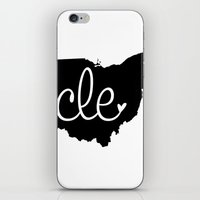 cleveland iPhone & iPod Skins featuring Love Cleveland by anastasia5