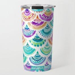 RAINBOW MERMACITA Colorful Mermaid Scales Travel Mug