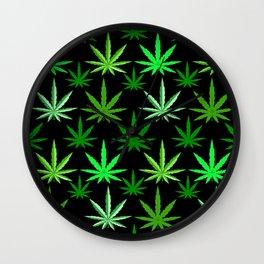 Marijuana Green Weed Wall Clock