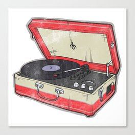 Vintage Record Player Canvas Print