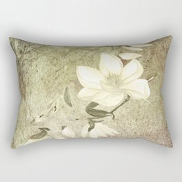 Magnolia Blossoms Textured Rectangular Pillow