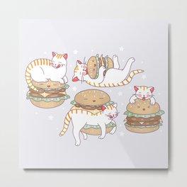 Cat burgers Metal Print