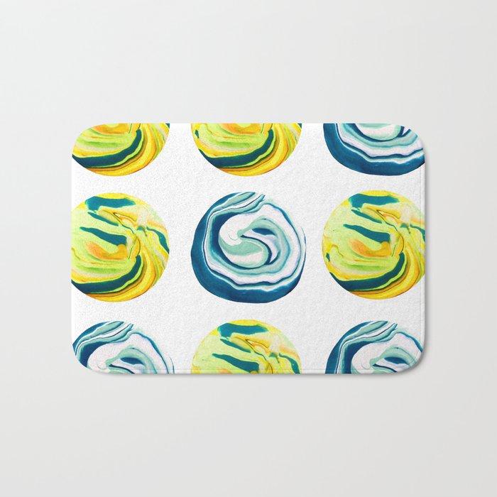 Marbling Tic Tac Toe Bath Mat