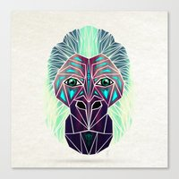 gorilla Canvas Prints featuring gorilla by Manoou