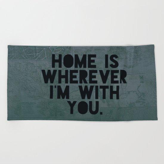 With You II Beach Towel
