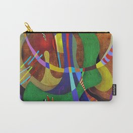 Painting abstract climbing in the mountains Carry-All Pouch