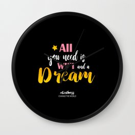 Girlboss quote Wall Clock