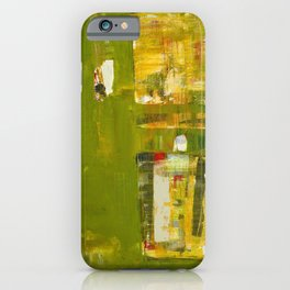 Iodine Green Abstract Art Modern Print iPhone Case