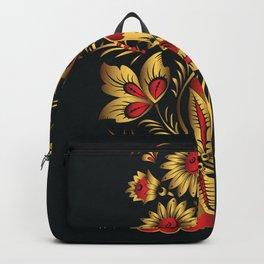 Golden russian folk Backpack