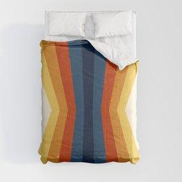 Bright 70's Retro Stripes Reflection Comforters