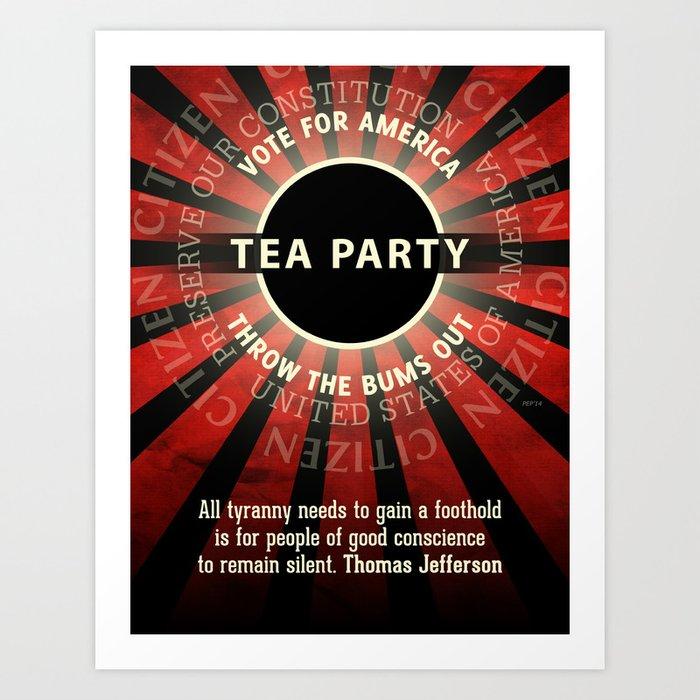 Thomas Jefferson Tea Party Art Print