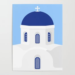 Santorini #02 Poster