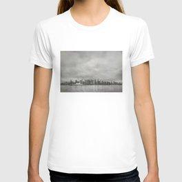 Vancouver Raincity Series - Raincity i - Moody Downtown Vancouver Cityscape T-shirt